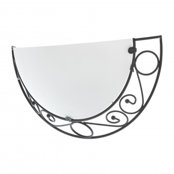 стъклен аплик, хром, elbulgaria, 1x40w, 1510/1w bk