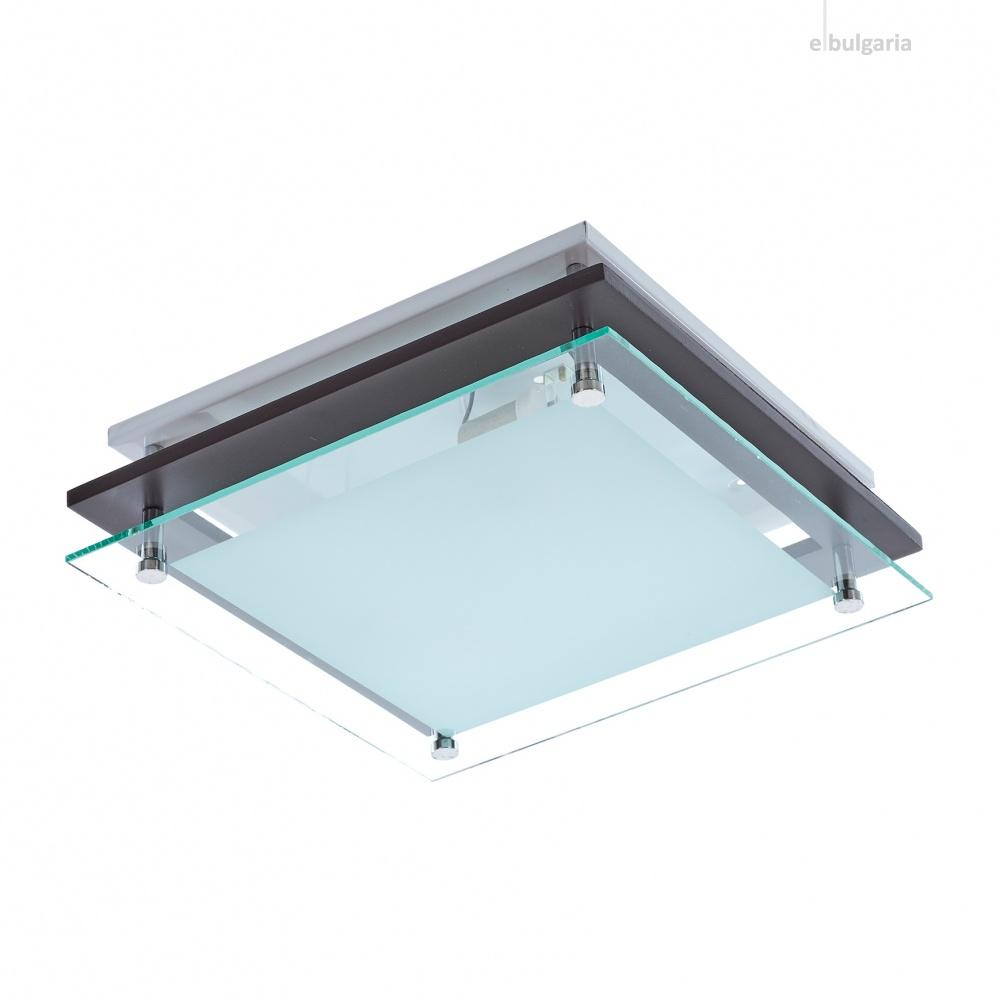 метален плафон, венге, elbulgaria, 2x40w, 1509/30 cf
