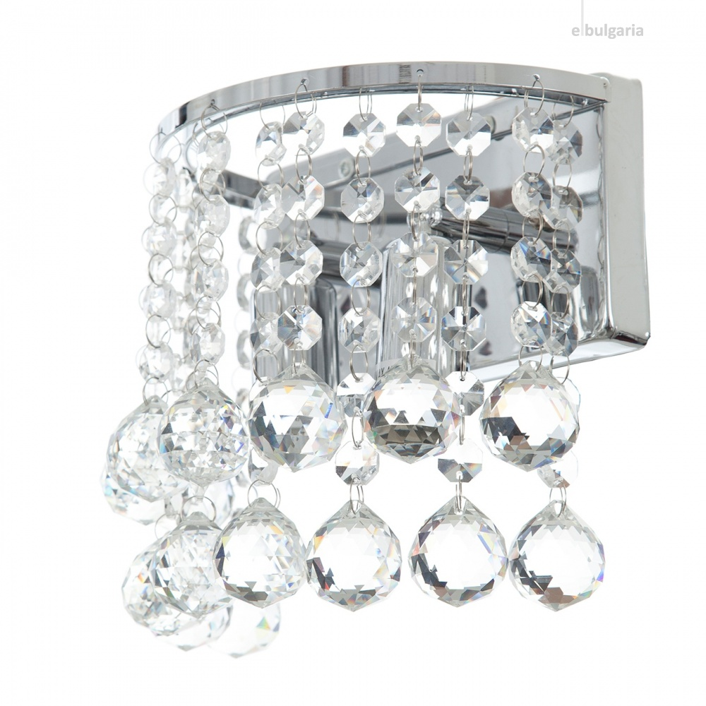 кристален аплик, хром, elbulgaria, 2x40w, 878ch