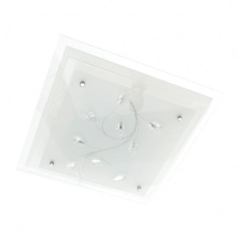 стъклен плафон, бял, elbulgaria, 2x40w, 1010a wh