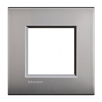 метална рамка, nickel mat, bticino, livinglight air, lnc4802nk