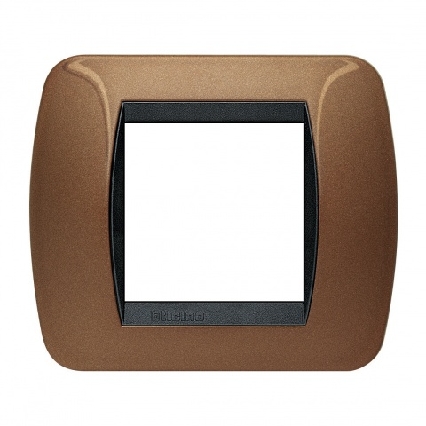 рамка, oxidized bronze, bticino, livinglight, l4802bo