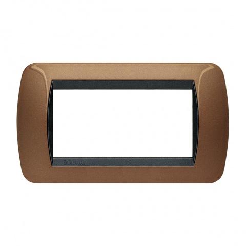 четиримодулна рамка, oxidized bronze, bticino, livinglight, l4804bo