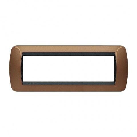 седеммодулна рамка, oxidized bronze, bticino, livinglight, l4807bo