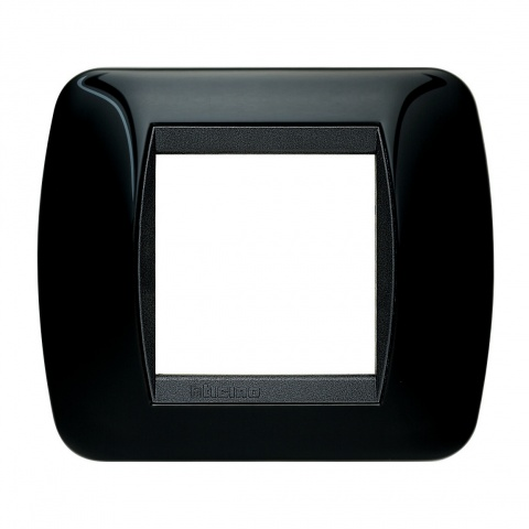 рамка, solid black, bticino, livinglight, l4802nr