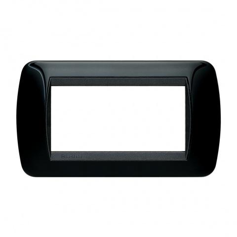 четиримодулна рамка, solid black, bticino, livinglight, l4804nr
