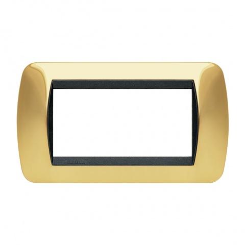 четиримодулна рамка, true gold, bticino, livinglight, l4804or