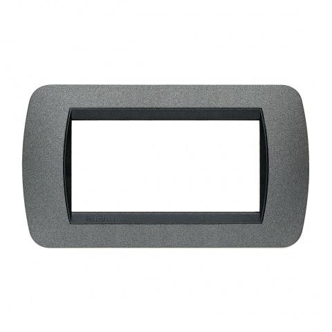 четиримодулна рамка, graphite, bticino, livinglight, l4804gf