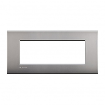 метална седеммодулна рамка, nickel mat, bticino, livinglight air, lnc4807nk