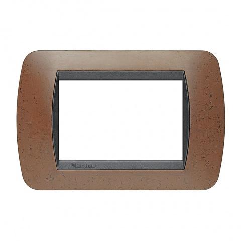 тримодулна рамка, bakelite, bticino, livinglight, l4803bk