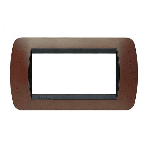 четиримодулна рамка, bakelite, bticino, livinglight, l4804bk