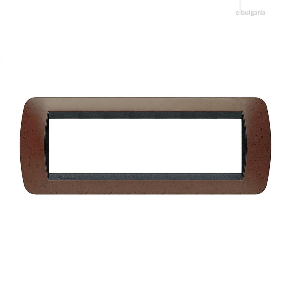 седеммодулна рамка, bakelite, bticino, livinglight, l4807bk