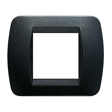 рамка, dark steel, bticino, livinglight, l4802pa