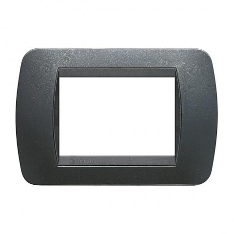 тримодулна рамка, dark steel, bticino, livinglight, l4803pa