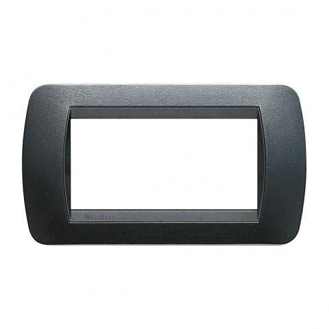 четиримодулна рамка, dark steel, bticino, livinglight, l4804pa