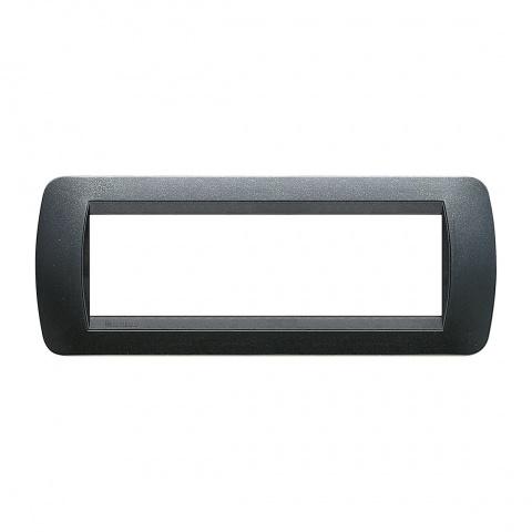 седеммодулна рамка, dark steel, bticino, livinglight, l4807pa