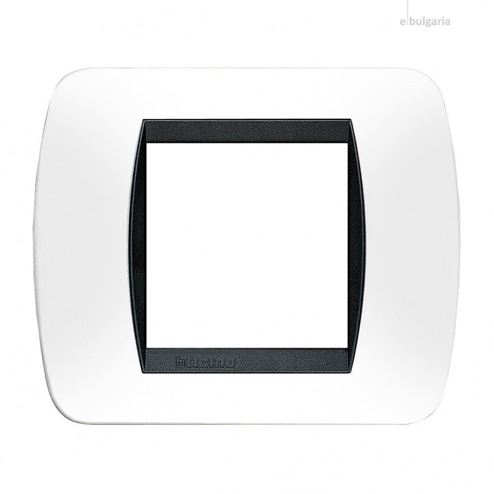 рамка, white, bticino, livinglight, l4802pb