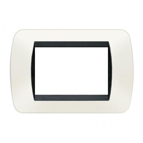 тримодулна рамка, white, bticino, livinglight, l4803pb