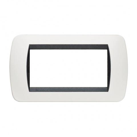 четримодулна рамка, white, bticino, livinglight, l4804pb