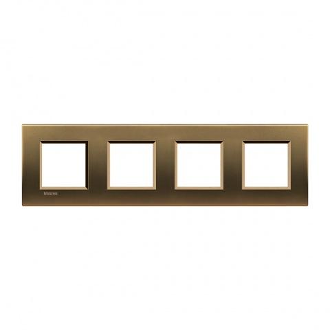 метална четворна рамка, bronze, bticino, livinglight, lna4802m4bz