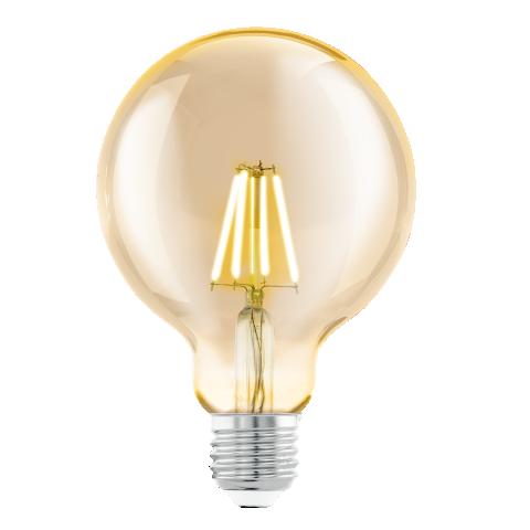 led лампа 4w, е27, топла светлина, eglo, filament, 2200k, 11522