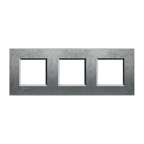 метална тройна рамка, native, bticino, livinglight, lna4802m3na