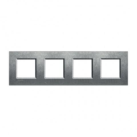 метална четворна рамка, native, bticino, livinglight, lna4802m4na