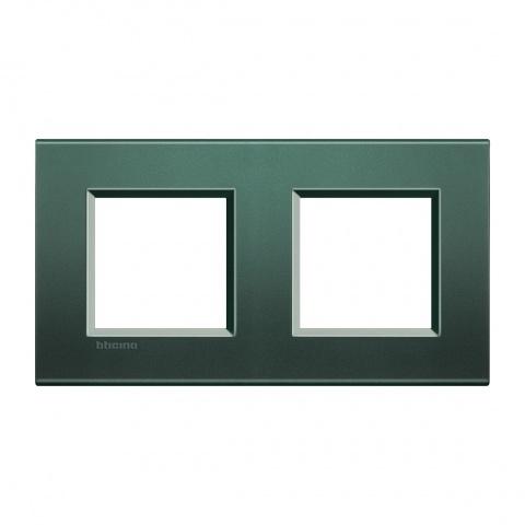 метална двойна рамка, park, bticino, livinglight, lna4802m2pk