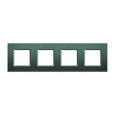 метална четворна рамка, park, bticino, livinglight, lna4802m4pk