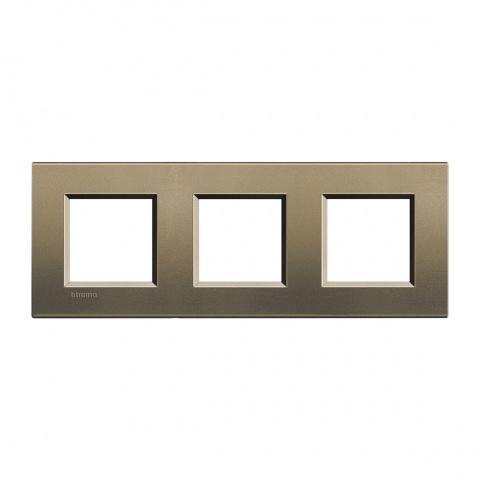 метална тройна рамка, square, bticino, livinglight, lna4802m3sq
