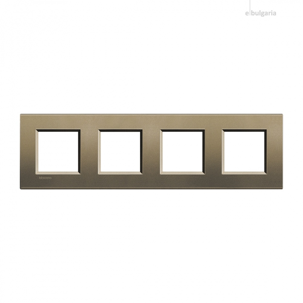 метална четворна рамка, square, bticino, livinglight, lna4802m4sq