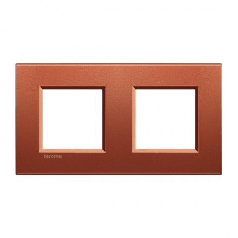 метална двойна рамка, brick,  bticino, livinglight, lna4802m2rk