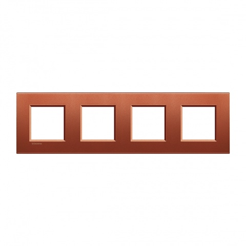 метална четворна рамка, brick,  bticino, livinglight, lna4802m4rk