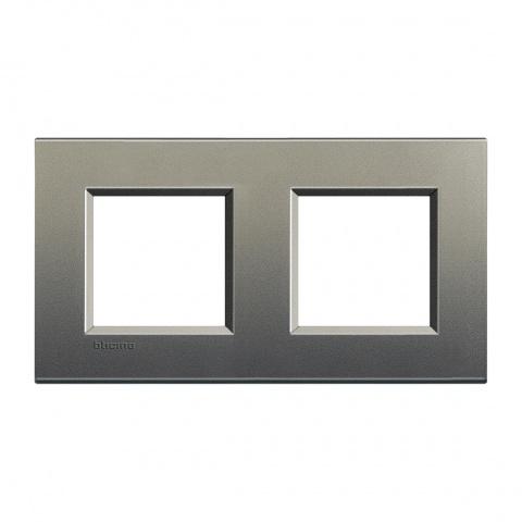 метална двойна рамка, avenue, bticino, livinglight, lna4802m2ae
