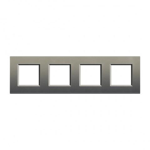 метална четворна рамка, avenue, bticino, livinglight, lna4802m4ae