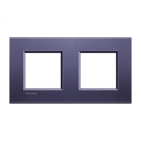 метална двойна рамка, club, bticino, livinglight, lna4802m2cb