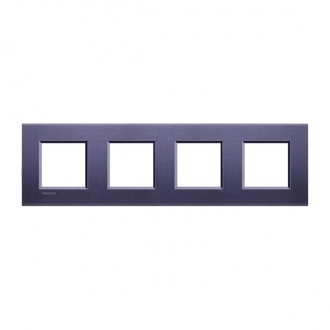 метална четворна рамка, club, bticino, livinglight, lna4802m4cb