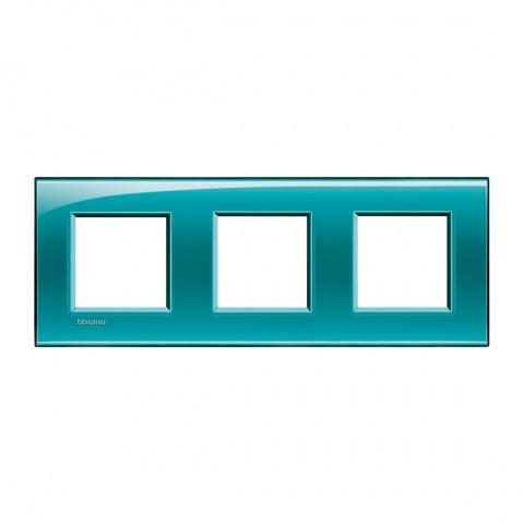 pvc тройна рамка, green,  bticino, livinglight, lna4802m3vd