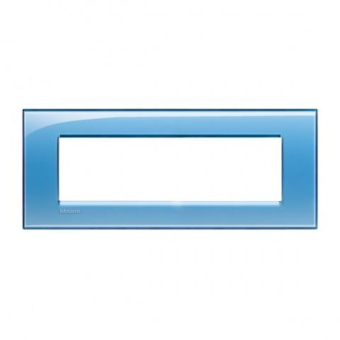 pvc седеммодулна рамка, blue, bticino, livinglight, lna4807ad