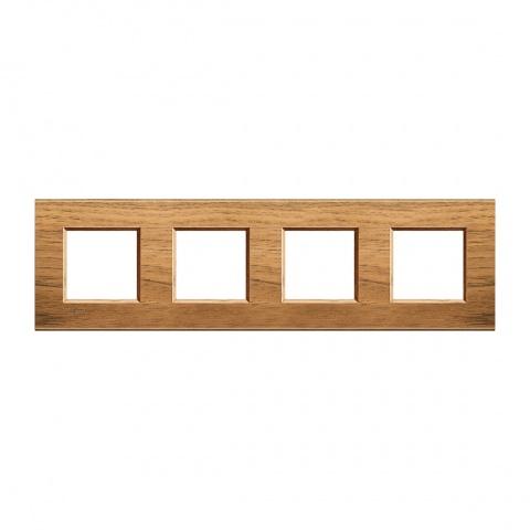 дървена четворна рамка, walnut, bticino, livinglight, lna4802m4lnc