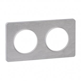 двойна рамка, кован алуминий, schneider, odace, s520804k
