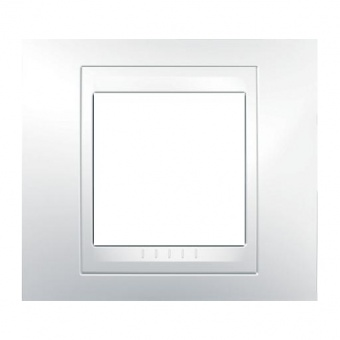 pvc рамка, бяла, schneider, unica plus, mgu6.002.18