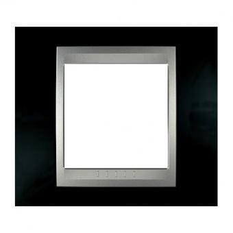метална рамка, родий/алуминий, schneider, unica top, mgu66.002.093