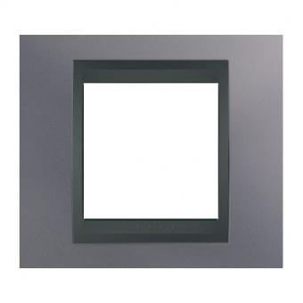 метална рамка, берил/графит, schneider, unica top, mgu66.002.298
