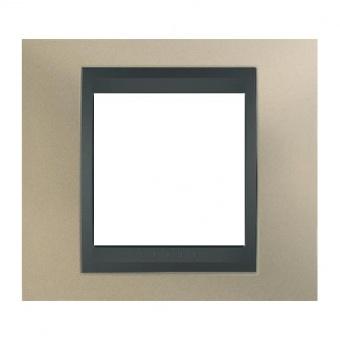 метална рамка, опал/графит, schneider, unica top, mgu66.002.295