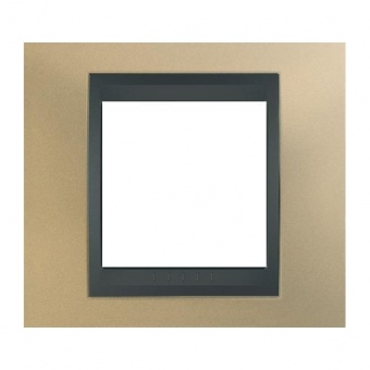 метална рамка, оникс/графит, schneider, unica top, mgu66.002.296