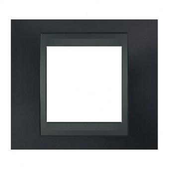метална рамка, сив металик/графит, schneider, unica top, mgu66.002.297