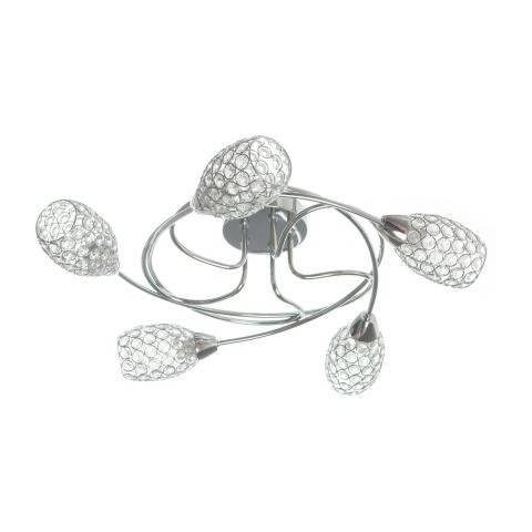 кристален полилей, хром, elbulgaria, 5x40w, 688/5 e14ch