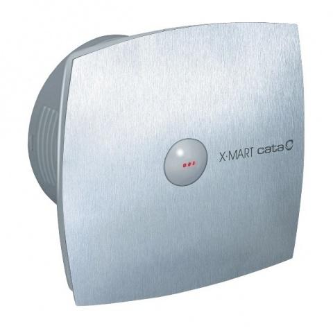 вентилатор за баня с автоматична клапа, инокс, cata, x-mart matic inox, ф120, 190 m3/h, 20w, x-mart matic inox12