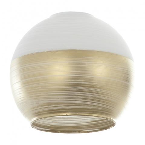 пенделно стъкло, злато, elbulgaria, 1x40w, за фасунга е27, 1910-e-fs-yn mat  бяло/злато